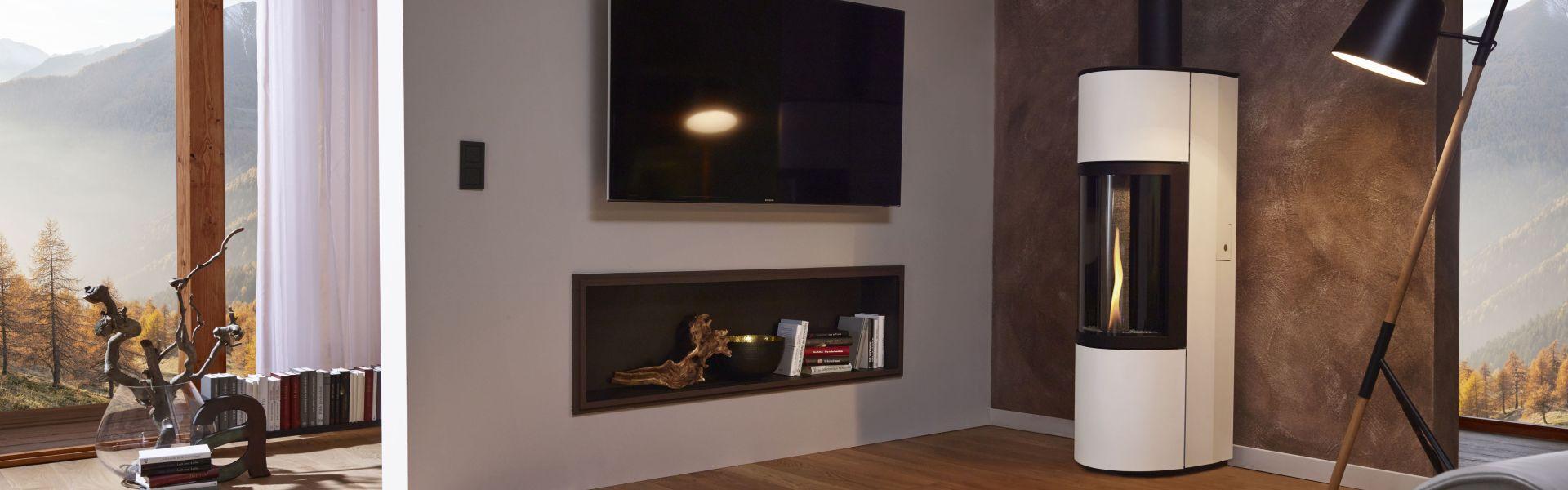 pelletofen arnold wohlf hlen mit fen und fliesen. Black Bedroom Furniture Sets. Home Design Ideas